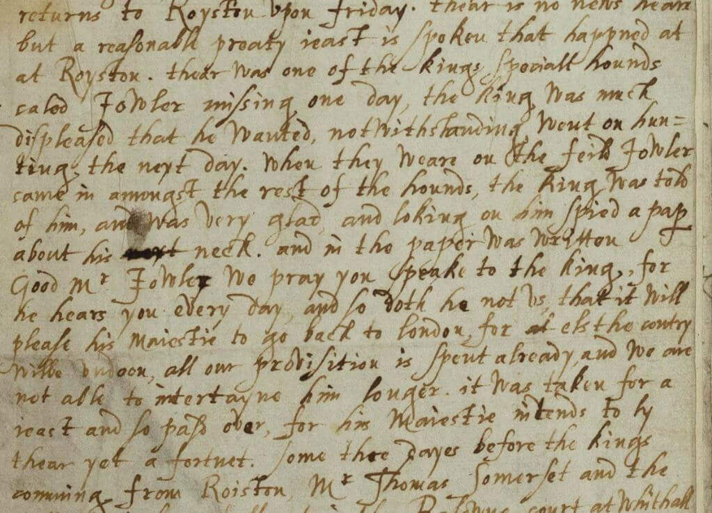 James I and note-based passive aggression in early modern England
